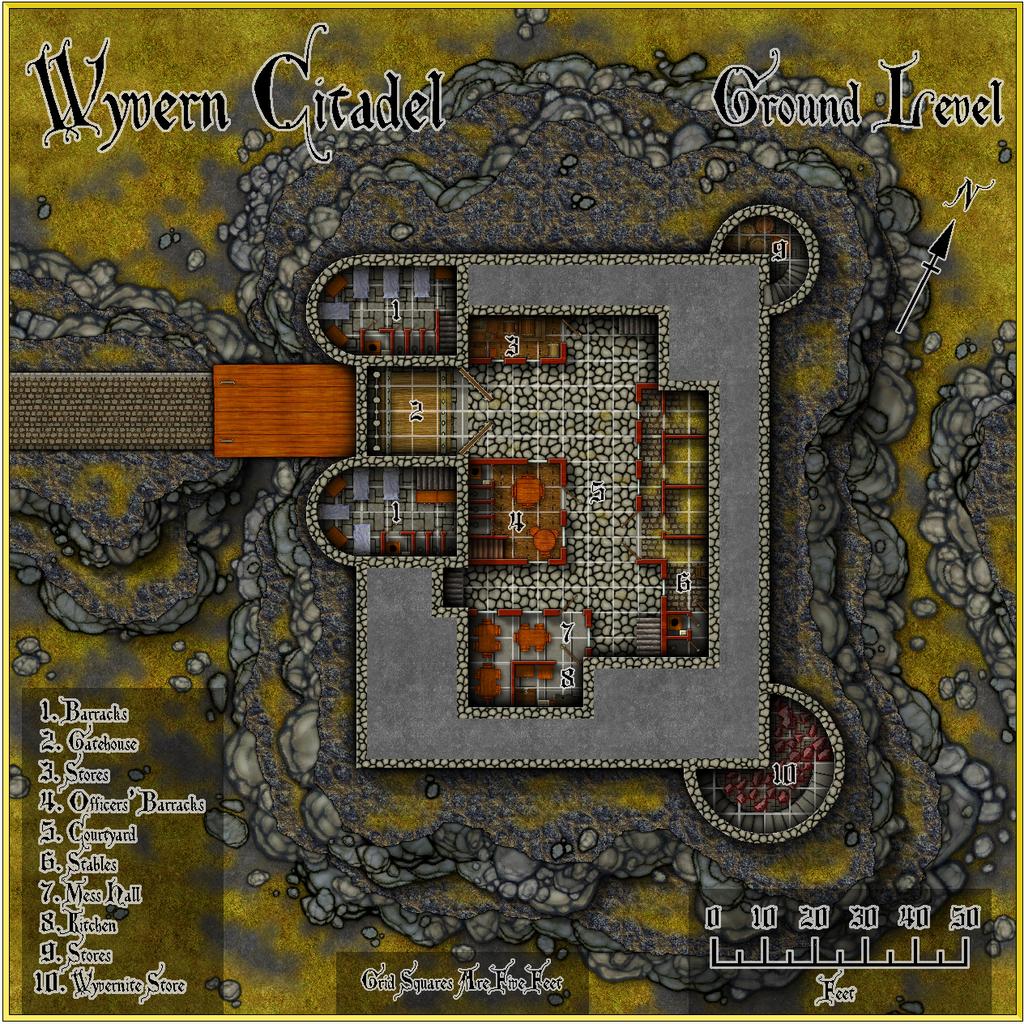Wyvern Citadel - Ground Level Forum Castle Grid.JPG