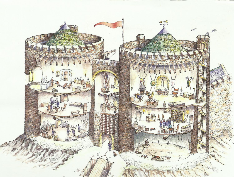 Carrickfergus castle gatehouse (reconstruction).jpg