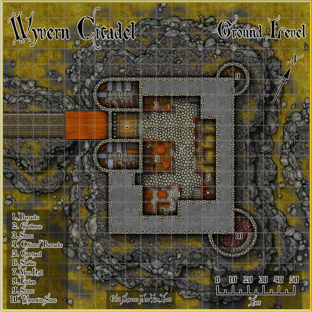 Wyvern Citadel - Ground Level Forum Map Grid.JPG